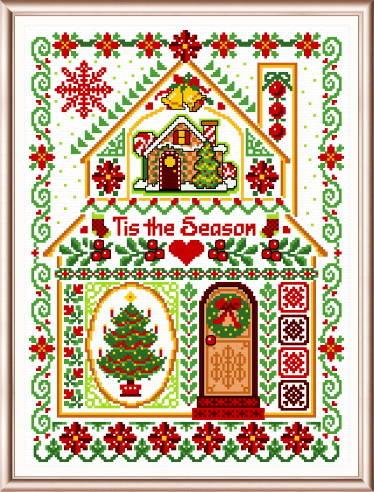 cross stitch pattern Christmas Sampler