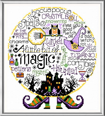 cross stitch pattern Let's Be Magical