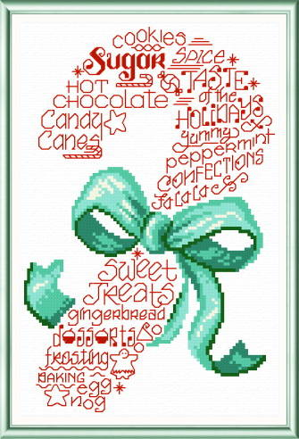 cross stitch pattern Let's Sweeten the Holidays