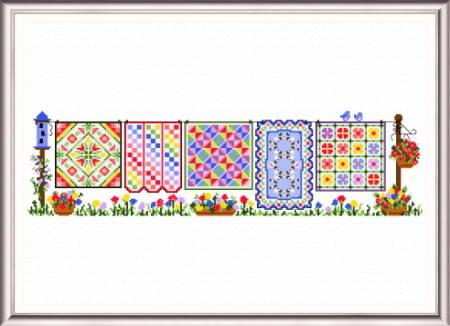 cross stitch pattern Spring Quilts Row