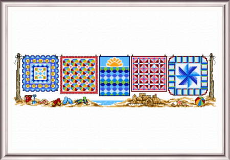 cross stitch pattern Summer Quilts Row