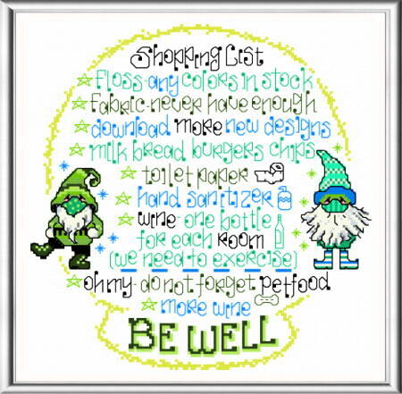cross stitch pattern Let's be Well