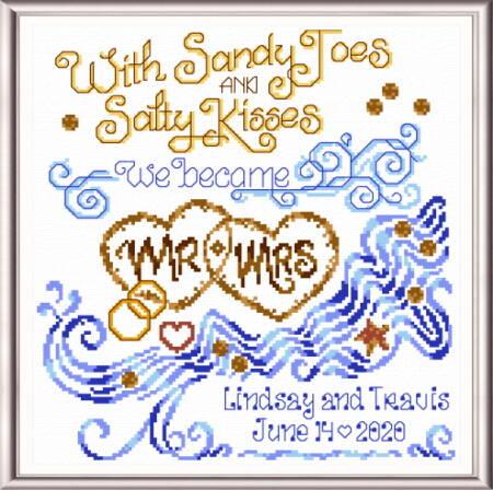cross stitch pattern Salty Kisses Wedding