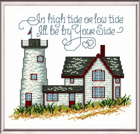 cross stitch pattern By Your Side Lighthouse