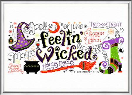cross stitch pattern Feelin' Wicked