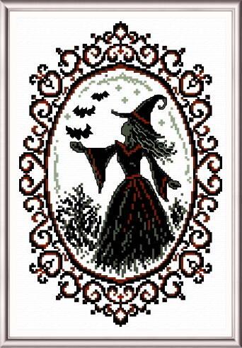 cross stitch pattern Gothic Mirror