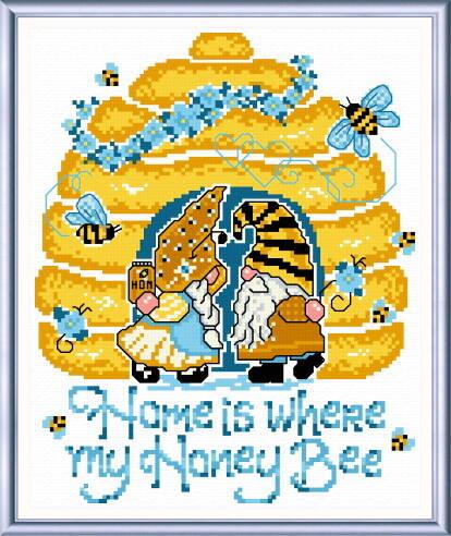 cross stitch pattern My Honey Bee
