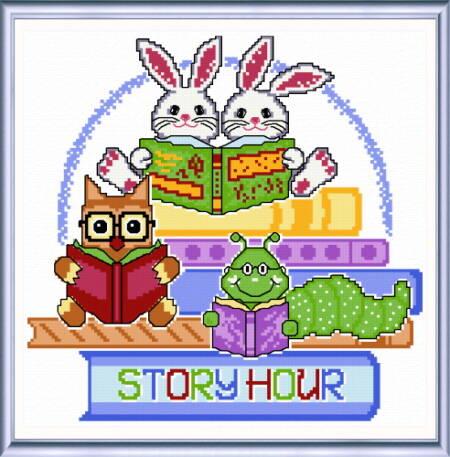 cross stitch pattern Story Hour