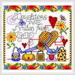 cross stitch pattern Girl Smiles