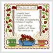 cross stitch pattern Recipe of Love