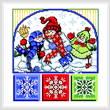 cross stitch pattern 3 Funny Snowmen
