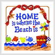 cross stitch pattern Beach is Home