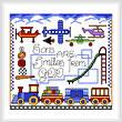 cross stitch pattern Boy Smiles