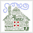 cross stitch pattern Let's be Family