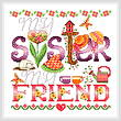 cross stitch pattern Sisters