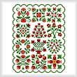 cross stitch pattern Baltimore Quilt