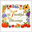 cross stitch pattern Be Thankful