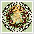cross stitch pattern December Wreath
