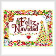 cross stitch pattern Candy Feliz Navidad