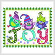 cross stitch pattern Holiday Blues