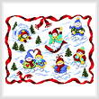 cross stitch pattern Snow Babies