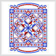 cross stitch pattern USA Quilt