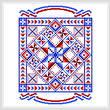 cross stitch pattern USA Quilt