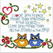 cross stitch pattern Owls in Love