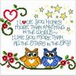 cross stitch pattern Owls in Love