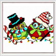cross stitch pattern Holiday Owl Pair