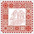 cross stitch pattern Redwork Quilts