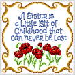 cross stitch pattern Sister