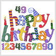 cross stitch pattern Happy Birthday