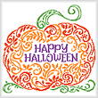 cross stitch pattern Happy Pumpkin