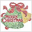 cross stitch pattern Merry Christmas Bells