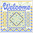 cross stitch pattern Sunny Welcome