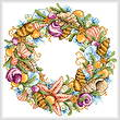 cross stitch pattern Seashell Wreath