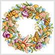 cross stitch pattern Seashell Wreath