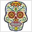 cross stitch pattern Sugar Skull
