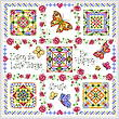 cross stitch pattern Tic Tac Summer