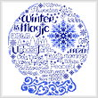 cross stitch pattern Let's be Chilly