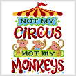cross stitch pattern Not my Monkeys