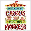 cross stitch pattern Not my Monkeys