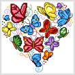 cross stitch pattern Rainbow Butterflies