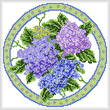 cross stitch pattern Seasonal Circle/ August Memory