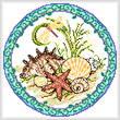 cross stitch pattern Seasonal Circle/ June Memory