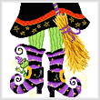 cross stitch pattern Witch Boots