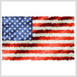 cross stitch pattern American Flag