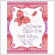 cross stitch pattern April Butterfly Birth record