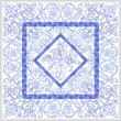 cross stitch pattern Blue Rose Quilt